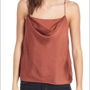 ASTR the label cowl neck tank, rust